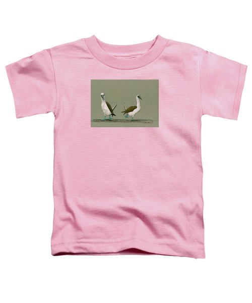 Blue Footed Boobies Toddler T-Shirt by Juan  Bosco