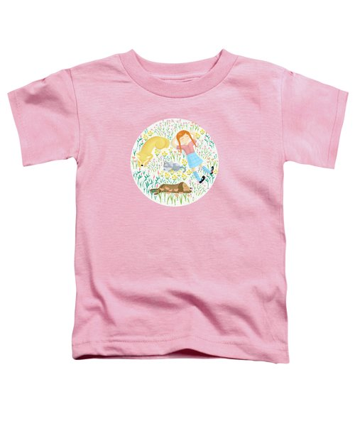 Summer Afternoon With Dogs, Cats And Clouds Toddler T-Shirt