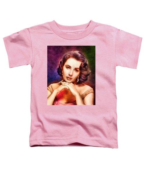 Elizabeth Taylor, Vintage Hollywood Legend Toddler T-Shirt by John Springfield