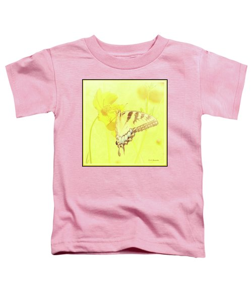 Tiger Swallowtail Butterfly On Cosmos Flower Toddler T-Shirt