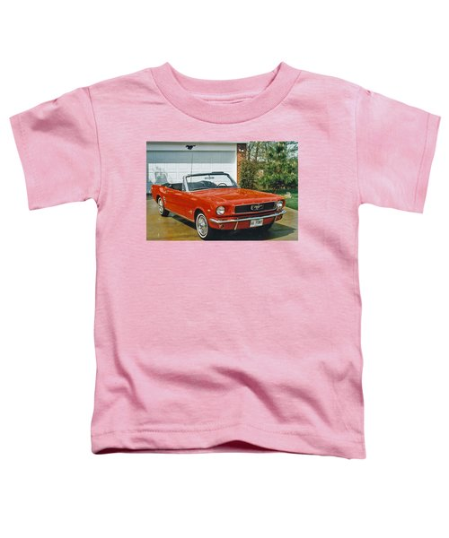 66 Mustang Convertable Toddler T-Shirt
