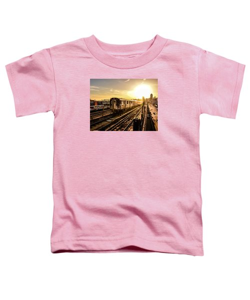 7 Train Sunset Toddler T-Shirt