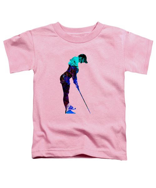Womens Golf Collection Toddler T-Shirt by Marvin Blaine