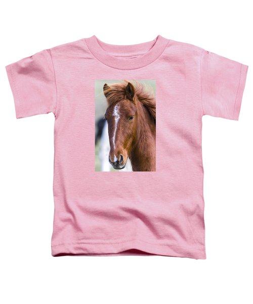 A Chestnut Horse Portrait Toddler T-Shirt