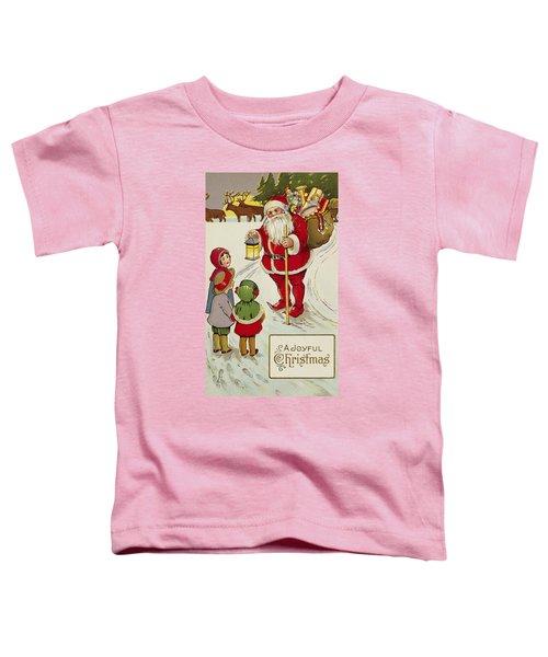 A Joyful Christmas Postcard Toddler T-Shirt
