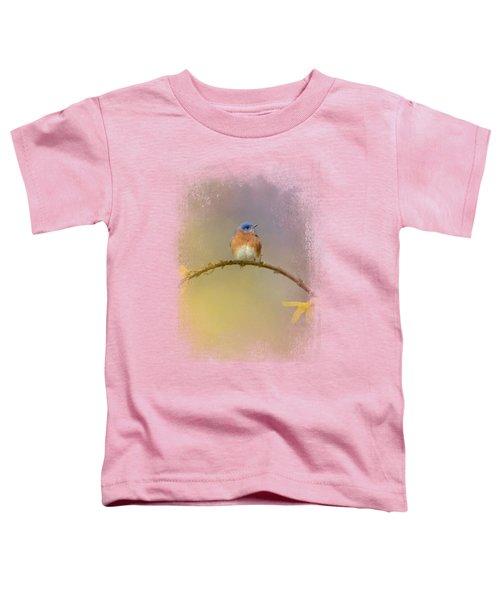 A Little Blue In The Garden Toddler T-Shirt by Jai Johnson