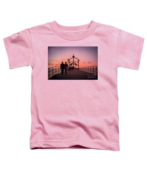 A Stroll Along Sunset Pier Toddler T-Shirt