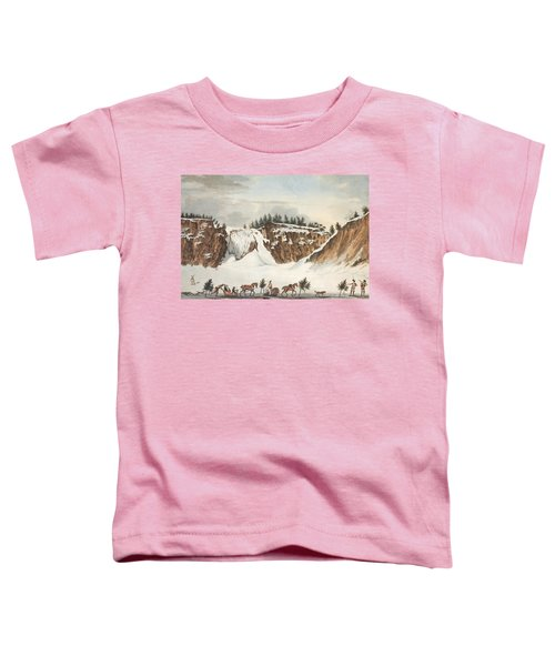 A Winter View Of The Falls Of Montmorenci Toddler T-Shirt