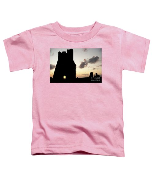 Aberystwyth Castle Tower Ruins At Sunset, Wales Uk Toddler T-Shirt