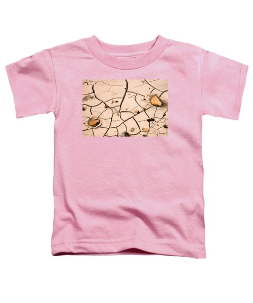Abstract Mud Flat Pink Saturated Toddler T-Shirt