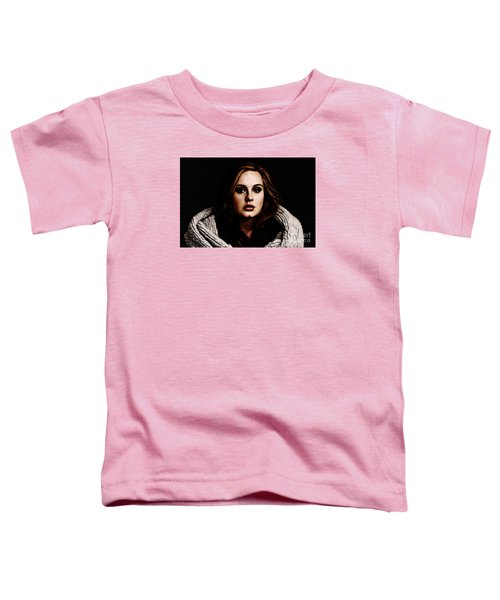 Adele Toddler T-Shirt by The DigArtisT