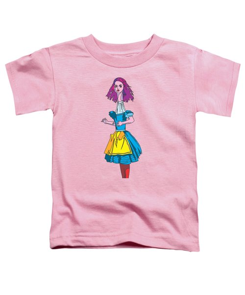 Alice In Wonderland - Ask Alice - Psychedelic Alice Toddler T-Shirt by Paul Telling