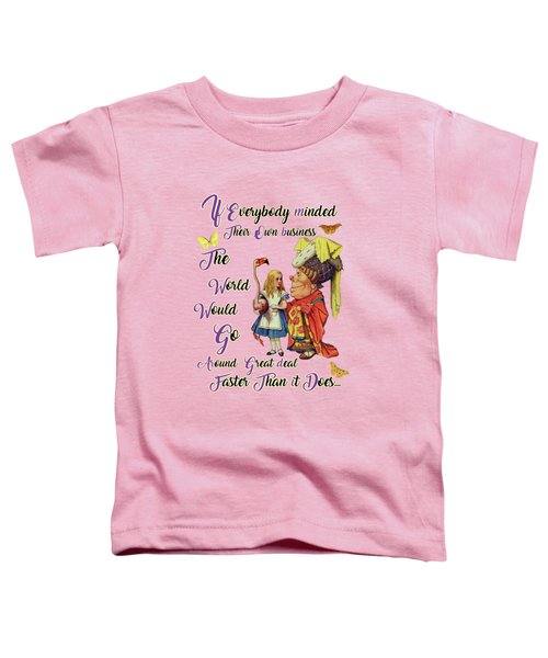 Alice With The Duchess Vintage Dictionary Art Toddler T-Shirt