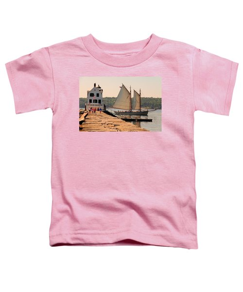 American Eagle At The Lighthouse Toddler T-Shirt