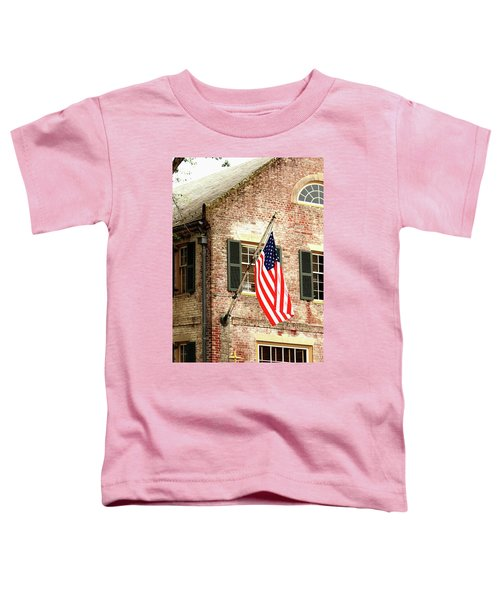 American Flag In Colonial Williamsburg Toddler T-Shirt