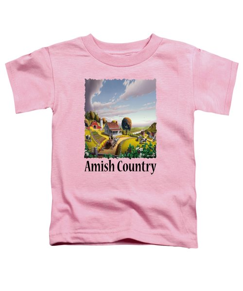 Amish Country - Appalachian Blackberry Patch Country Farm Landscape 2 Toddler T-Shirt