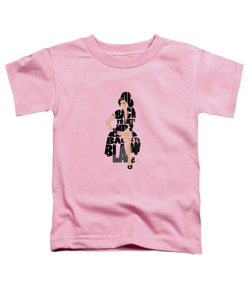 Amy Winehouse Typography Art Toddler T-Shirt