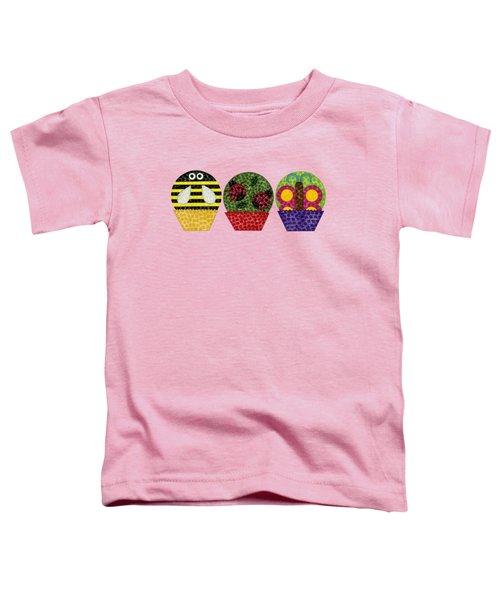 Animal Cupcakes 1 Toddler T-Shirt by Emily Kim
