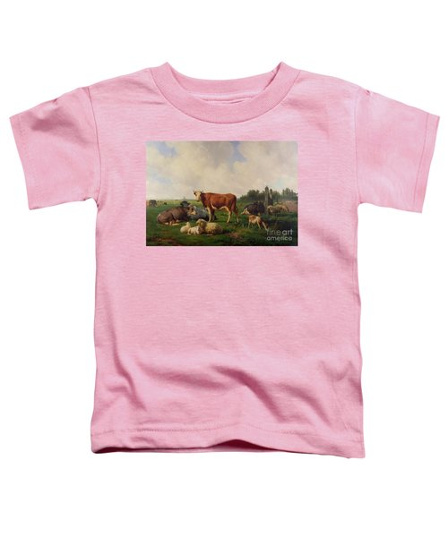 Animals Grazing In A Meadow  Toddler T-Shirt
