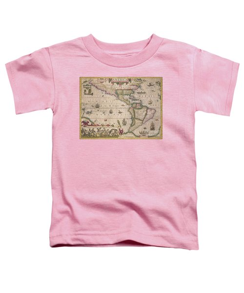 Antique Map Of America Toddler T-Shirt