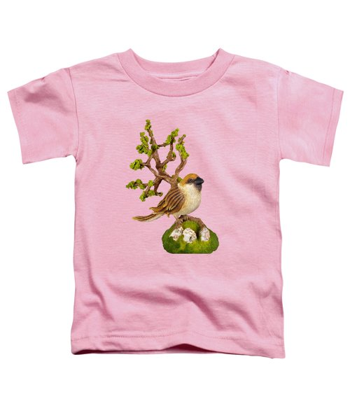 Arborescent Sparrow Toddler T-Shirt by Przemyslaw Stanuch