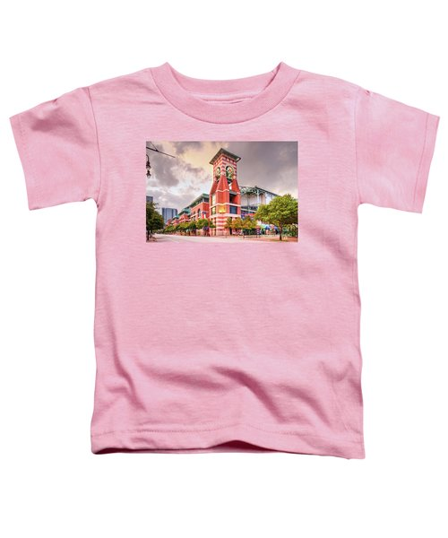 Architectural Photograph Of Minute Maid Park Home Of The Astros - Downtown Houston Texas Toddler T-Shirt