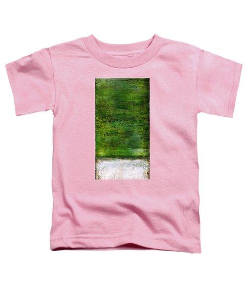 Art Print Green White Toddler T-Shirt