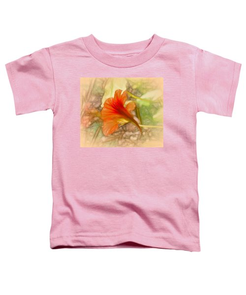 Artistic Red And Orange Toddler T-Shirt
