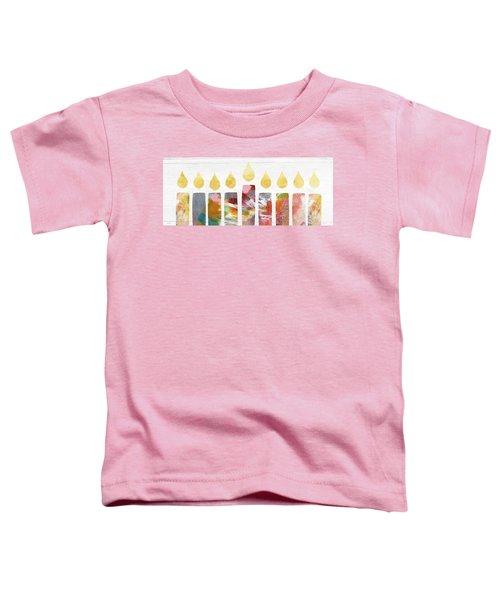 Artists Menorah- Art By Linda Woods Toddler T-Shirt