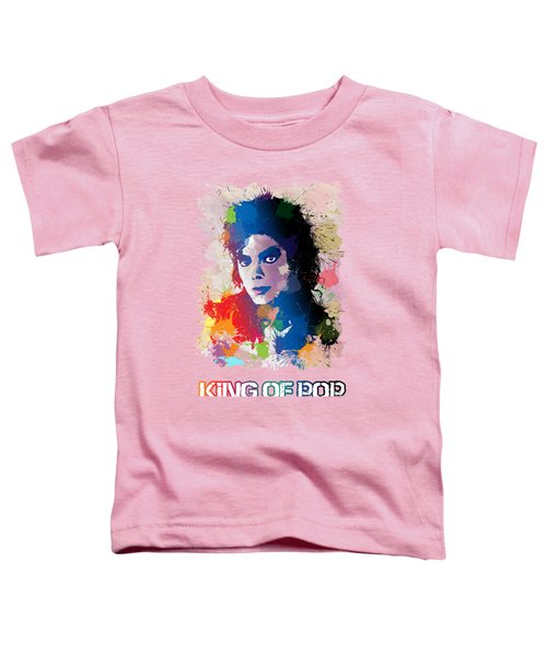 King Of Pop Toddler T-Shirt by Anthony Mwangi