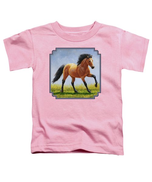 Buckskin Horse - Morning Run Toddler T-Shirt