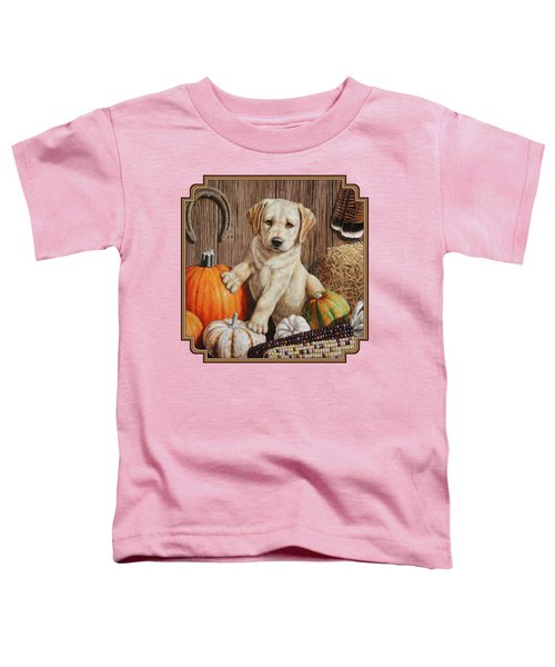 Pumpkin Puppy Toddler T-Shirt by Crista Forest