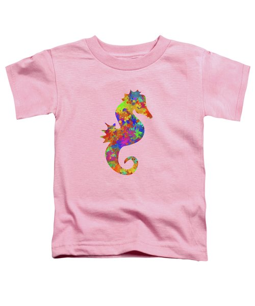 Seahorse Watercolor Art Toddler T-Shirt
