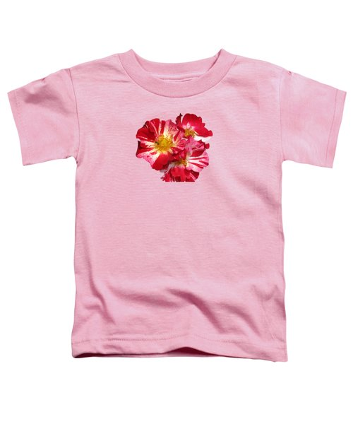 July 4th Rose Toddler T-Shirt by M E Cieplinski