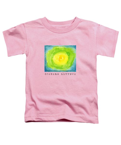 Abstract Iceberg Lettuce Toddler T-Shirt by Kathleen Wong