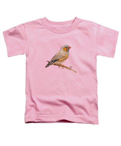 Zebra Finch Toddler T-Shirt by Angeles M Pomata