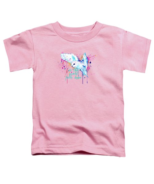 Rainbow Barn Owl Labyrinth Variant Toddler T-Shirt
