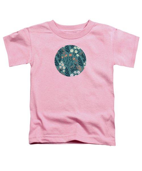 Beautiful Springtime Evening Garden Pattern Toddler T-Shirt