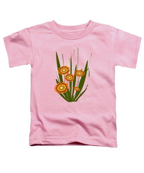 Orange Flowers Toddler T-Shirt