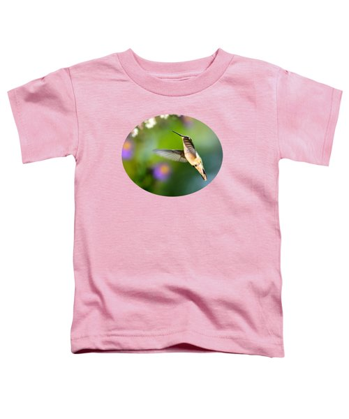 Garden Hummingbird Toddler T-Shirt by Christina Rollo