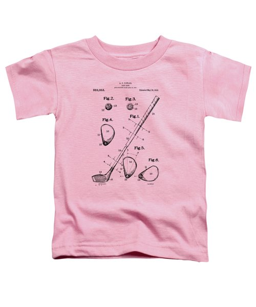 Vintage 1910 Golf Club Patent Artwork Toddler T-Shirt by Nikki Marie Smith