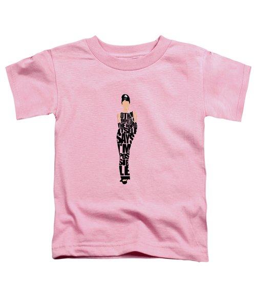 Audrey Hepburn Typography Poster Toddler T-Shirt