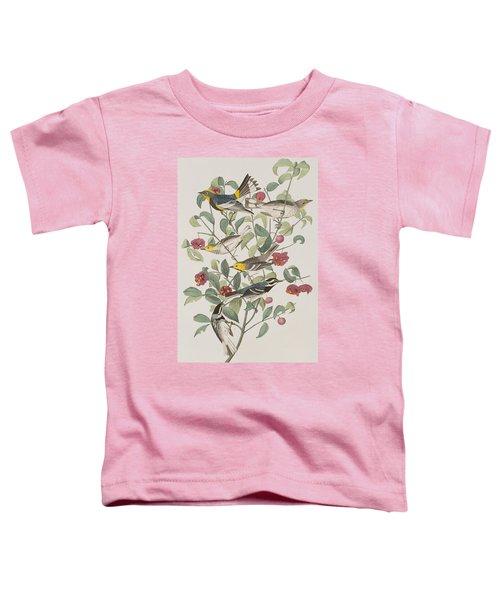 Audubons Warbler Hermit Warbler Black-throated Gray Warbler Toddler T-Shirt by John James Audubon
