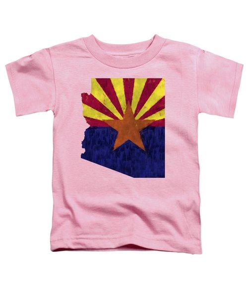 Azizona Map Art With Flag Design Toddler T-Shirt