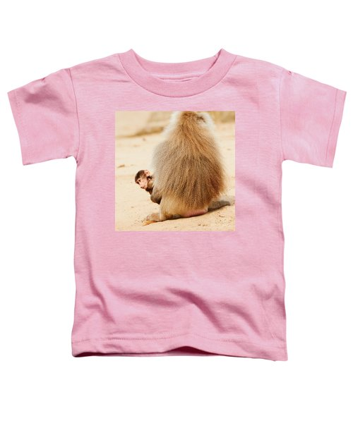 Baboon With A Baby  Toddler T-Shirt