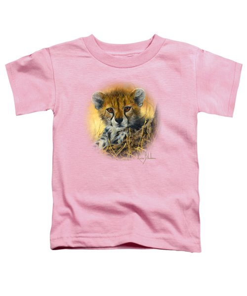 Baby Cheetah  Toddler T-Shirt by Lucie Bilodeau