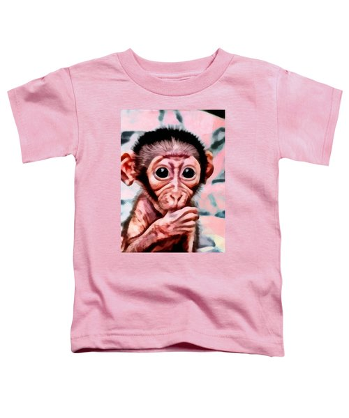 Baby Monkey Realistic Toddler T-Shirt