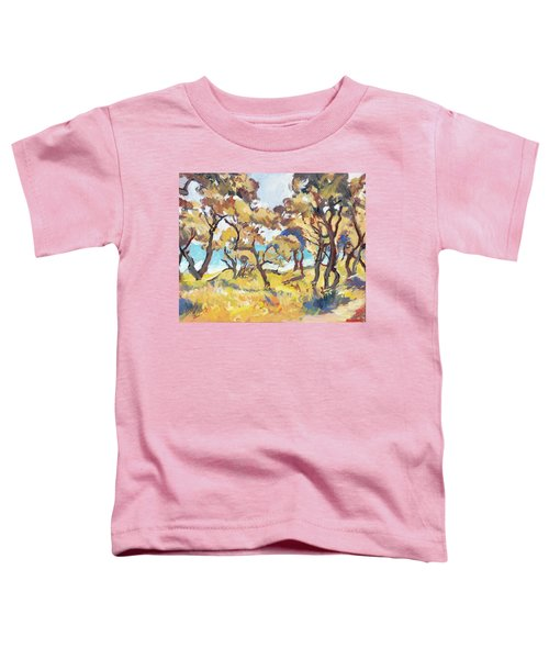 Backlight Olive Trees Marmari Beach Toddler T-Shirt