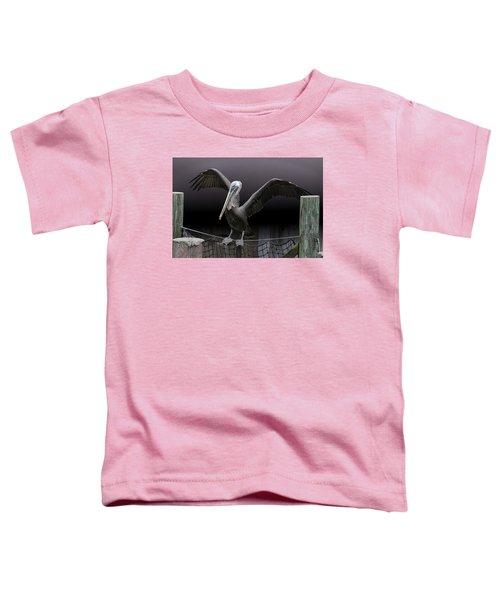Balancing Act - Pelican Toddler T-Shirt