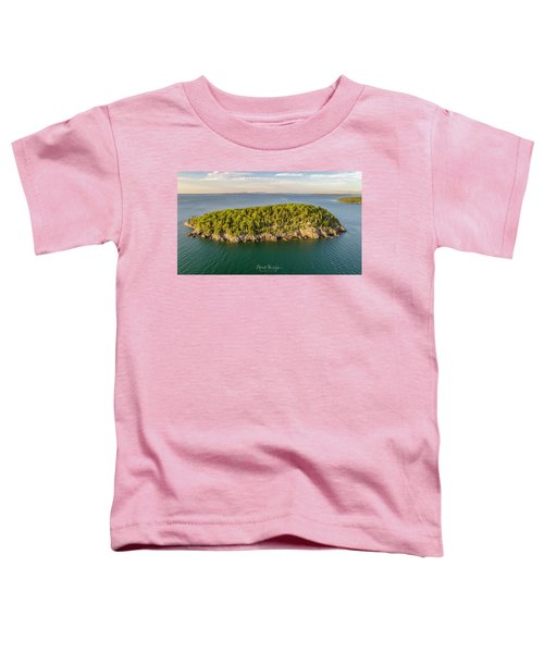 Bald Pocupine Island, Bar Harbor Toddler T-Shirt